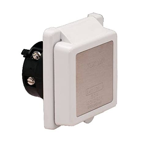Marinco 6353EL Marine 4-Wire Standard Poly Locking Power Inlet (50-Amp, 125/250-Volt, Male) by