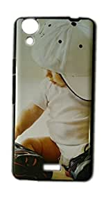 Cellmate Glossy IMD Printed Back Cover for Micromax Canvas Selfie Lens Q345 - CURE LITTER BOY