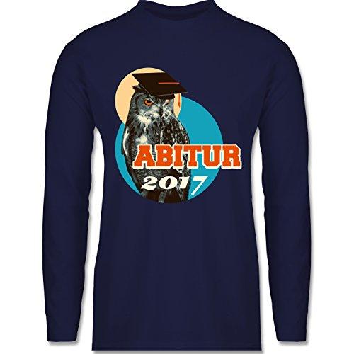 Abi & Abschluss - ABITUR 2017 Vintage Eule - Longsleeve / langärmeliges T-Shirt für Herren Navy Blau