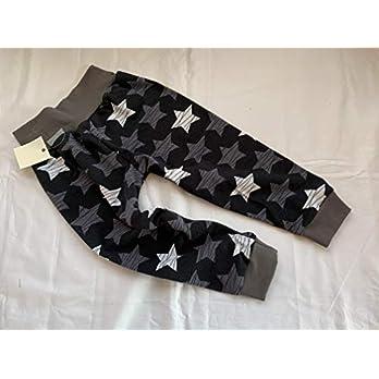 Pumphose Sterne auf schwarz 74/80