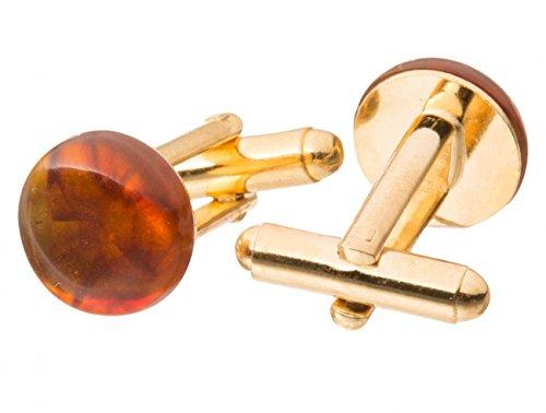 Gemshine -Manschettenknöpfe Vergoldet Bernstein 1141CBod