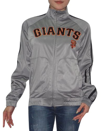 MLB San Francisco Giants Womens Zip-up jacket with embroidered logo Grey