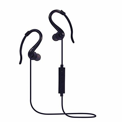 Cuffie Bluetooth,DETOME In Ear Auricolari Wireless auricolari stereo Premium Sound del Basso Sweatproof con eliminazione del rumore per qualsiasi Bluetooth dispositivi multimediali (nero)