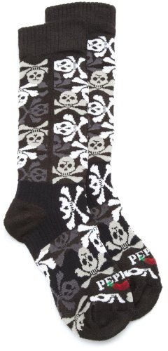 Hot Chillys Jungen Piraten Med Socke, Jungen, Black/Pirates (Winter Chillys Socken Hot)