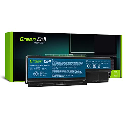 Green Cell® Batterie pour Acer Aspire 6530 6530G 6920 6930 6930G 6935 7220 7520 7535 7535G 7738 7738G 7540 7540G 7720 7730 7740 7740G Ordinateur PC Portable (6 Cellules 4400mAh 10.8V)