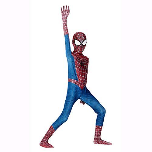Im Kostüm Unsichtbaren Kinder Rot - Xiaodun77 Kostüm Kinder Rollenspiel Kleidung Junge Halloween Rollenspiel Kleidung Spider-Man Cosplay Kostüm Body Spandex Overalls,Rot,L
