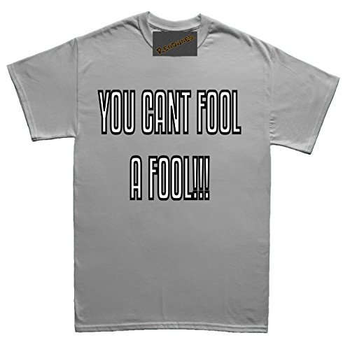 Renowned You can't fool a fool even on april fools day Unisex - Kinder T Shirt Grau