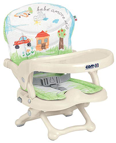CAM Il mondo del bambino S333/222 Rialzo da Sedia Smarty Pop, Verde