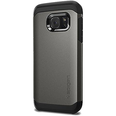 Spigen 555CS20018 - Funda para Samsung Galaxy S7, Plata/Negro