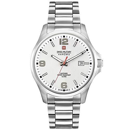 SWISS MILITARY-HANOWA Herren Analog Quarz Uhr mit Edelstahl Armband 06-5277.04.001