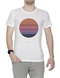 Tycho Despierto (Sol) Hombre Camiseta Cuello Redondo Blanco Manga Corta Todos Los Tamaños Mens