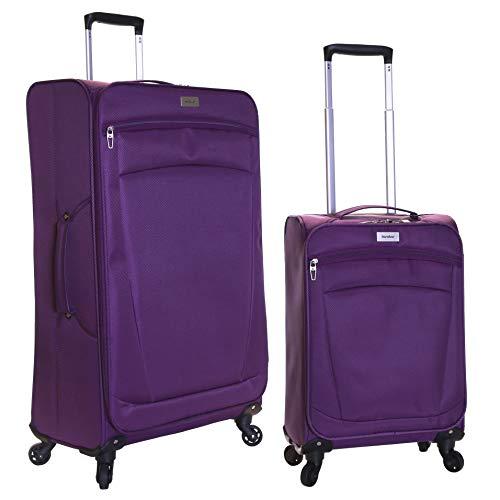 Karabar Marbella juego de 2 maletas ultraligeros, Púrpura