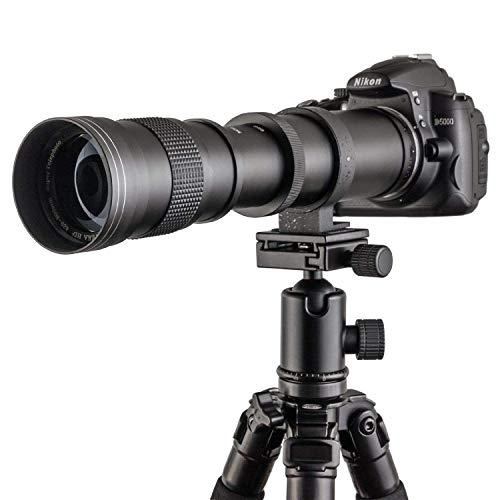Fotga 420-800mm f/8.3-16 Super Tele Zoom Objektiv Teleobjektiv Zoomobjektiv Vario-Objektiv Lens für Sony E Mount Kamera A6000 A6300 A6500 A7 A7S A7R II III A9 Mirrorless Kamera, Manuelle Objektiv