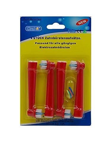 oral-q eb10-a, 12 (3packs) Standard Elektrische Zahnbürste Ersatz Köpfe passt für Kinder für Braun oral-q zufällige farbe