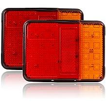 30 luces LED traseras de freno e indicadores de Abedoe, 12V, para remolque, camión, volquete, furgoneta y caravana