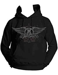 AEROSMITH - FADED WINGS - OFFICIAL SWEAT À CAPUCHE FEMME - Noir, Medium