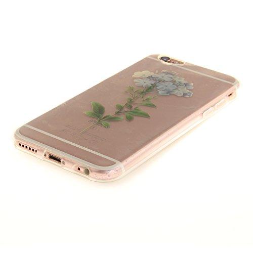 iPhone 6S Hülle,iPhone 6 Hülle,BONROY® iPhone 6 6S Silikon Hülle [Kratzfeste, Scratch-Resistant], Malerei Muster Transparent Weichem Silikon Schutzhülle Hülle Case Cover Etui Ultra Slim Skin TPU Bumpe eine Blume