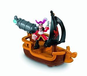 Mattel W5264 Disney Jake y los piratas de Nunca Jamás - Garfio con barco cañonero de Mattel
