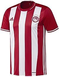 Adidas H JSY Camiseta 1ª Equipación Olympiacos FC 2015/2016, Hombre, Rojo/