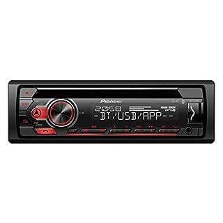 Pioneer DEH-S410BT | 1DIN Autoradio | CD-Tuner mit RDS | Bluetooth | MP3 | USB und AUX-Eingang | iPhone-Steuerung | Bluetooth Freisprecheinrichtung | Smart Sync App | 13-Band Equalizer | Spotify
