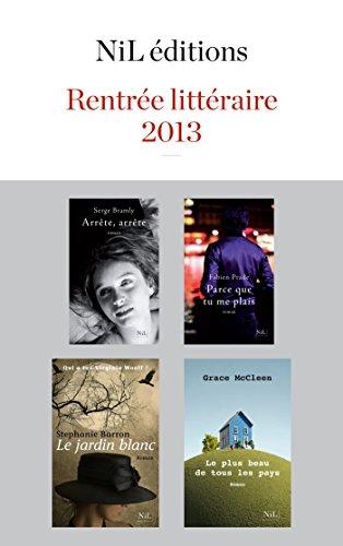 Couverture du livre Rentrée littéraire 2013 - NiL éditions - Extraits gratuits