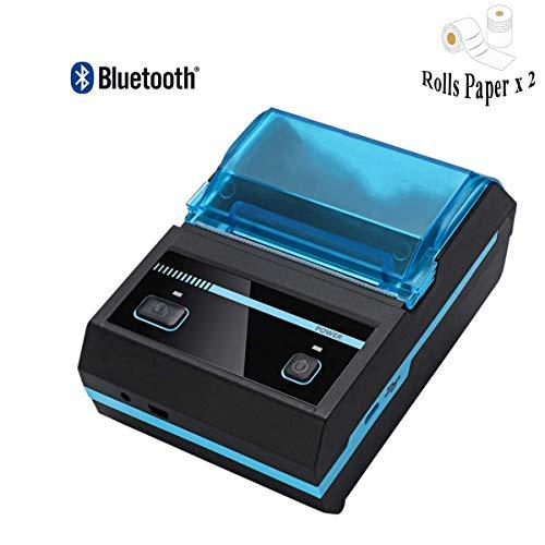 Wiederaufladbarer Thermodrucker Bluetooth Wireless 58 mm 2 Zoll für Bar-QR-Code-Empfang, tragbare Mobile Etikettendrucker-Unterstützung Android/iOS/ESC/POS