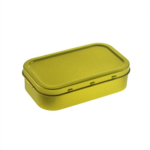 Smoking Accessories - Tobacco Tin tibl1oz-1oz blanko Gold Tabakdose