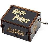 Meiion Antigua caja de música de madera tallada música de manivela: regalo de Harry Potter