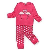 Tarkis Girls Novely Pyjamas Set Cartoon Pattern Nightwear Sleepwear Long Sleeve Pjs Outfit Ages 2 to 7 Years