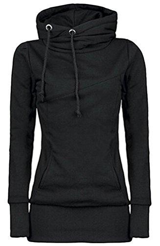 Brinny femmes Hoodie sweats à capuche sweatshirt Pour hiver automne Noir