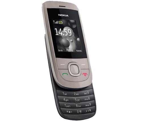 Nokia 2220 slide Handy (MP3, GPRS, Ovi Mail. Flugmodus) warm silver Gprs-handy