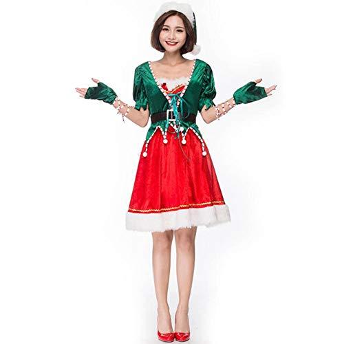 ASDF Weihnachtsfeier Partykostüme niedliche Weihnachtskostüme Bühnenkostüme