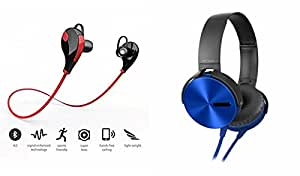 MIRZA Bluetooth Headset & Extra Extra Bass XD450 Headphones for OPPO NEO 7(Jogger Headset|| Sports Headset|| Wire less Earphone||Bluetooth Headphone || Exercise Headset || Gym Headset ||Extra Extra Bass XD450||Sports Headphones||GYM Headphones )