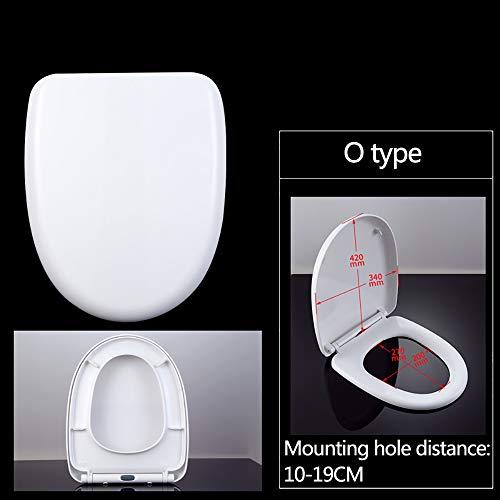 Arayacy sedile rapido morbido chiuso, bianco (pesante) - doppio sistema di fissaggio - sedile del wc domestico,e