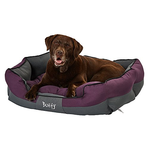 Bunty Anchor Dog Pet Bed, Soft Waterproof Machine Washable Hardwearing Basket Mat Cushion, Cosy, Cat, Small Animal, Purple, X-Large, Made in the United Kingdom