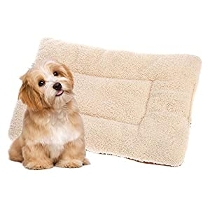 Anself-Pet-Cushion-Soft-Washable-Reversible-Fleece-Puppy-Dog-Cat-Pet-Kennel-Crate-Mat