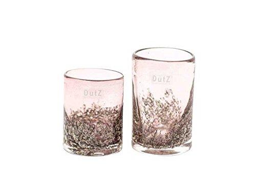 Dutz Cylinder Aubergine Bubbles H 14 cm D 9 cm, Luftblasen lila