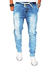 Stylische Herren Jogg Jeans Hose Jogging Sweathose Chino Slim Fit