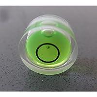 Livelle sferiche ad alcol bolla in acrilico con sfera guida in metallo, Verde / Livella a bolla piccola, custodia in acrilico, livella per superfici, centro bersaglio fiala