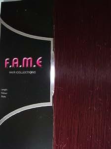 "Dark Plum Clip in hair extensions 20"" - Full Head"