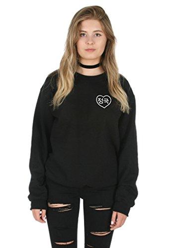 Sanfran - Korean Jungkook Pocket Kpop BTS Fangirl Bangtang Jungshook Jumper Sweater - Medium/Black