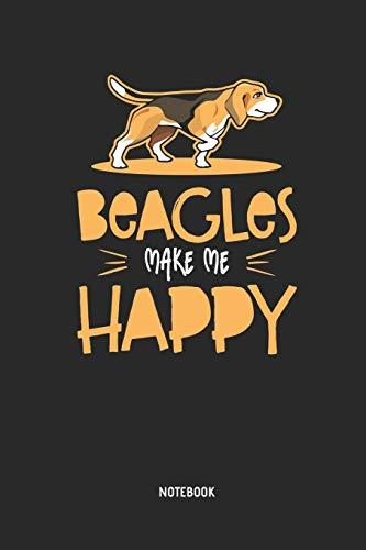 Beagle | Notizbuch: Beagles Make Me Happy - Liniertes Beagle Notizbuch. Tolle Geschenk Idee für Beagle Besitzer und alle die Beagle Hunde lieben. -