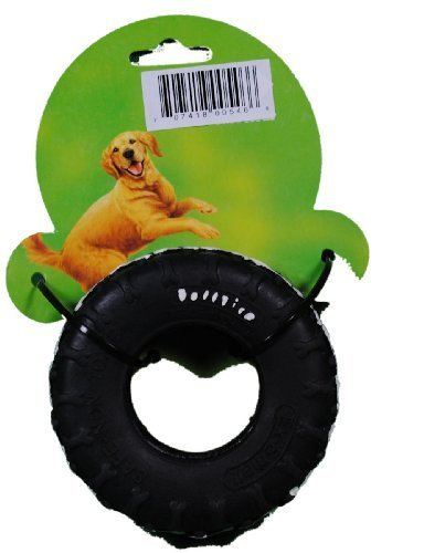 4-black-durable-rubber-tuff-tire-dog-chew-toy-by-carrefour-products