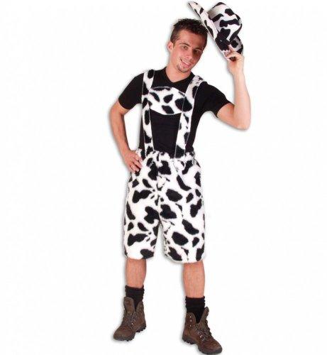 Kostüm Kuhhose Plüsch schwarz/weiß - Größe L -