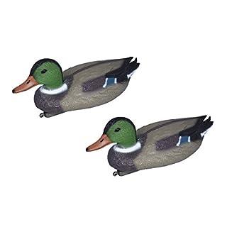 Artecsis 2x Duck decoy for pond and garden, plastic mallard, pond decoration, floating duck, fake bird
