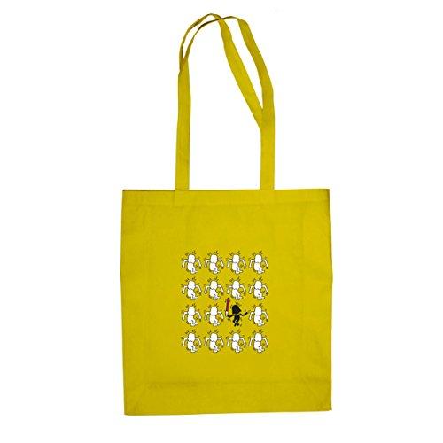 Modern Art Vader - Stofftasche / Beutel, Farbe: gelb (Beste Pop Art Kostüme)