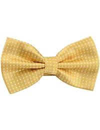 Panegy Nœud Papillon Cravate lavallière Homme Soirée Businesse Mariage Cérémonie Déco Fête Costume Bow Tie en Coton mélange Classique pour Complet 6*12cm à Pois Multicolore