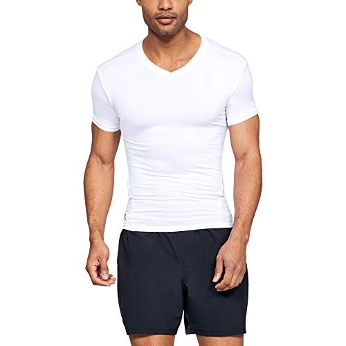 Under Armour UA1216010W-L Tactical T-Shirt V-Neck HeatGear, Weiß, L