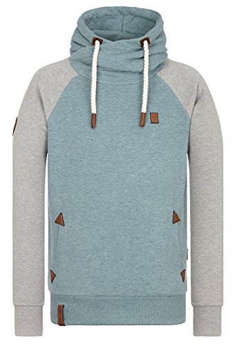 Naketano Male Hoody Perverser III Stormy Sea-Gun Smoke Grey Melange