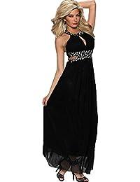 ZARINA®Vestido Plisado de Mujer / Vestido de Novia modelo 6803 color negro